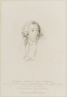 Horace Walpole, by Henry Meyer, published by  T. Cadell & W. Davies, after  William Evans, after  Sir Thomas Lawrence - NPG D14065