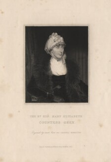Mary Elizabeth Grey (née Ponsonby), Countess Grey, by Thomas Anthony Dean, published by  Edward Bull - NPG D17934