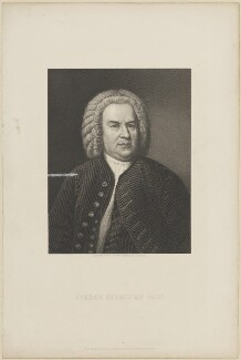 Johann Sebastian Bach, by Conrad Cook, published by  William Mackenzie, after  Lazarus Gottlieb Sichling, after  Elias Gottlob Haussmann - NPG D14078