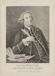 John Christopher Smith, by Edward Harding, published by  T. Cadell & W. Davies, after  Johan Joseph Zoffany - NPG D14082