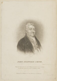 John Stafford Smith, by Thomas Illman, published by  T. Williams, after  William Behnes - NPG D14084
