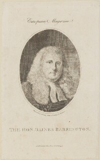 Daines Barrington, by William Bromley, published by  John Sewell, after  Samuel Drummond - NPG D14086