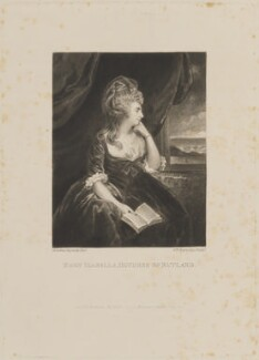 Mary Isabella Manners (née Somerset), Duchess of Rutland, by Samuel William Reynolds, published by  William Reynolds, after  Sir Joshua Reynolds - NPG D14094