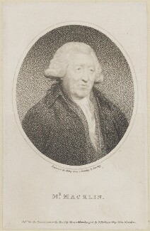 Charles Macklin, by William Ridley, published by  Thomas Bellamy, after  Sir William Beechey - NPG D14096