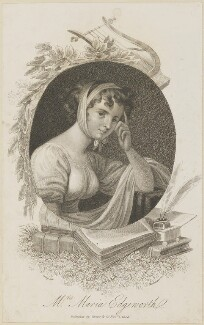 Unknown woman engraved as Maria Edgeworth, by Mackenzie, published by  Vernor & Co, after  William Marshall Craig - NPG D14114