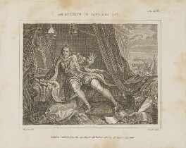 David Garrick as Richard III, by T. Clerk, published by  Robert Scholey, after  William Hogarth - NPG D14116