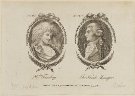 'Mrs Tomboy and The Irish Manager' (Dorothy Jordan; Richard Daly), published by Archibald Hamilton Jr - NPG D14120