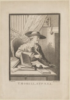 Thomas Morell, by James Basire, after  William Hogarth - NPG D14121