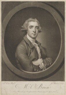 William O'Brien, by and published by James Watson, after  Francis Cotes - NPG D14122