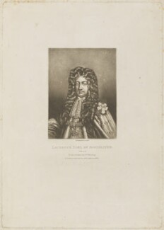 Laurence Hyde, 1st Earl of Rochester, by Robert Dunkarton, published by  Samuel Woodburn, after  Willem Wissing - NPG D14124
