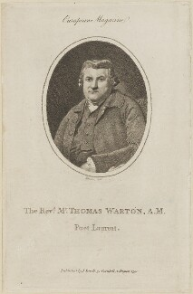 Thomas Warton the Younger, by R. Stanier, published by  John Sewell, after  Sir Joshua Reynolds - NPG D14136