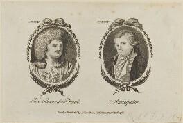 'The Barn-door Fowl and Anticipator' (Mrs Barnes; Richard Tickell), published by Archibald Hamilton Jr - NPG D14142