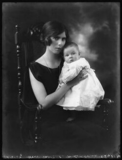 Michael Whidborne; Hon. Joyce Laline Whidborne (née Plunket), by Bassano Ltd - NPG x122652