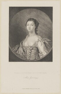 Maria (née Gunning), Countess of Coventry, by J. Cook, published by  Richard Bentley, after  Francis Cotes - NPG D14152
