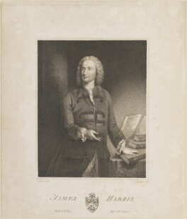 James Harris, by Charles (Cantelowe, Cantlo) Bestland, after  Joseph Highmore - NPG D14156