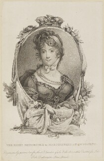 Anne Townshend (née Montgomery), Marchioness Townshend, by Marie Anne Bourlier, published by  John Bell - NPG D14160
