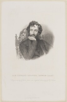 Edward George Earle Lytton Bulwer-Lytton, 1st Baron Lytton, by G. Cook, published by  Richard Bentley, after  Richard James Lane - NPG D14166