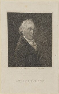 Amos Green, by William Thomas Fry, probably after  Robert Hancock - NPG D14176