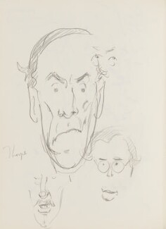 Jeremy Thorpe and two unknown men, by Cecil Beaton - NPG D17943(142)