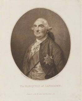 William Petty, 1st Marquess of Lansdowne (Lord Shelburne), by and published by Francesco Bartolozzi, after  Thomas Gainsborough - NPG D14181