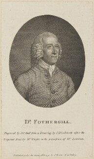 John Fothergill, by John Hall, published by  Christopher Forster, after  C. Blackberd, after  Mrs Wright - NPG D14182