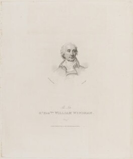 Hon. William Windham, by John Alais, published by  William Cribb, after  Sir Thomas Lawrence - NPG D14192