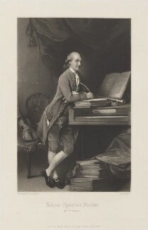 Johann Christian Fischer, by George H. Every, published by  Henry Graves, after  Thomas Gainsborough - NPG D14194