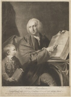 Arthur Beardmore, by James Watson, published by  Robert Sayer, and published by  John Smith of Cheapside, after  Robert Edge Pine - NPG D14202