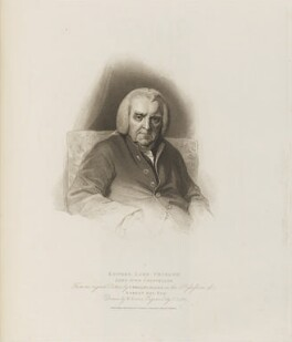 Edward Thurlow, Baron Thurlow, by James Godby, published by  T. Cadell & W. Davies, after  William Evans, after  Thomas Phillips - NPG D14204