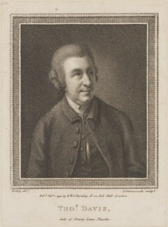 Thomas Davies, by Luigi Schiavonetti, published by  E. & S. Harding, after  Thomas Hickey - NPG D14210