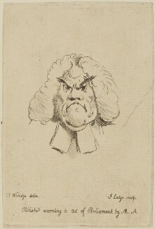 William Warburton, by John Lodge, after  Thomas Worlidge - NPG D14214