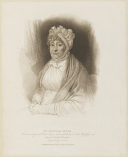 Hannah More, by James Godby, published by  T. Cadell & W. Davies, after  Edward Bird, published 25 September 1809 - NPG D14218 - © National Portrait Gallery, London