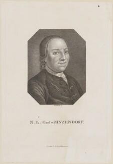 Nikolaus Ludwig von Zinzendorf, by Zschoch - NPG D14226