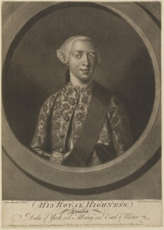 Edward Augustus, Duke of York and Albany, by Richard Houston, published by  Elizabeth Bakewell, and published by  Henry Parker, and published by  Robert Sayer, after  Henry Robert Morland - NPG D14232