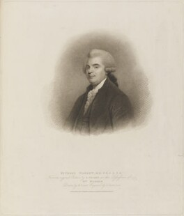 Richard Warren, by Gaetano Stefano Bartolozzi, published by  T. Cadell & W. Davies, after  William Evans, after  Gilbert Stuart - NPG D14237