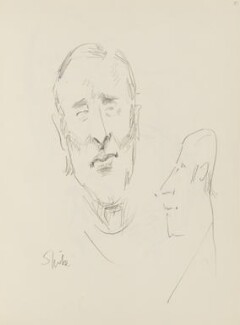 Spike Milligan and an unknown man, by Cecil Beaton - NPG D17947(73)
