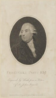 Percivall Pott, by James Heath, published by  Joseph Johnson, after  Sir Joshua Reynolds - NPG D14238