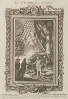 George Bridges Rodney, 1st Baron Rodney; François Joseph Paul, Comte de Grasse, by Fiegl, after  Conrad Martin Metz - NPG D14245
