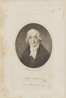 Venanzio Rauzzini, by Samuel Freeman, published by  Vernor, Hood & Sharpe, after  William Mineard Bennett - NPG D14247