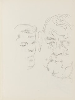 Joe Gormley and an unknown man, by Cecil Beaton - NPG D17943(11)