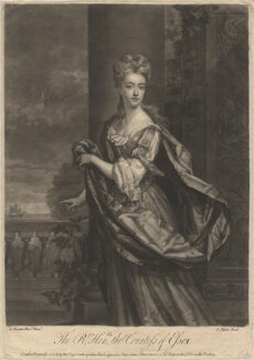 Mary Capel (née Bentinck), Countess of Essex, by John Faber Jr, printed for and sold by  Robert Sayer, printed for and sold by  John King, after  Sir Godfrey Kneller, Bt - NPG D1873