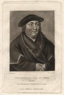 Unknown sitter formerly known as Thomas Cromwell, Earl of Essex, by Richard Earlom, after  Unknown artist - NPG D1872