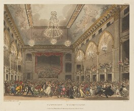 'Pantheon masquerade', by Thomas Rowlandson, and by  Auguste Charles Pugin, aquatinted by  John Bluck, published by  Rudolph Ackermann - NPG D14263
