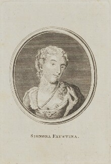 Faustina Hasse (née Bordoni), by Unknown artist - NPG D14266