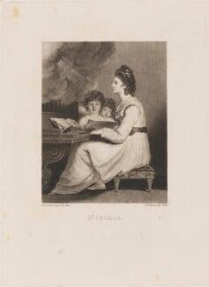 Elizabeth Ann Sheridan (née Linley) as St Cecilia, by Samuel William Reynolds, after  Sir Joshua Reynolds - NPG D14271