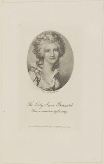 Lady Anne Barnard (née Lindsay), by Walker & Cockerell, published by  Smith, Rider and Co, after  Richard Cosway - NPG D14275
