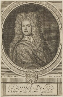 Daniel Defoe, by Michael Vandergucht, after  Jeremiah Taverner - NPG D14278