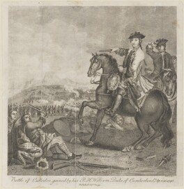 'Battle of Culloden' (William Augustus, Duke of Cumberland), by Pals - NPG D14280