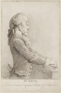 Thomas Augustine Arne, published by William Humphrey, after  Francesco Bartolozzi - NPG D14285