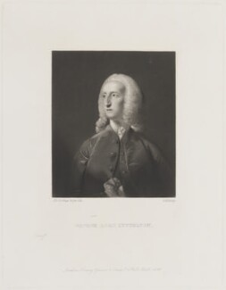 George Lyttelton, 1st Baron Lyttelton, by George H. Every, published by  Henry Graves, after  Sir Joshua Reynolds - NPG D14305